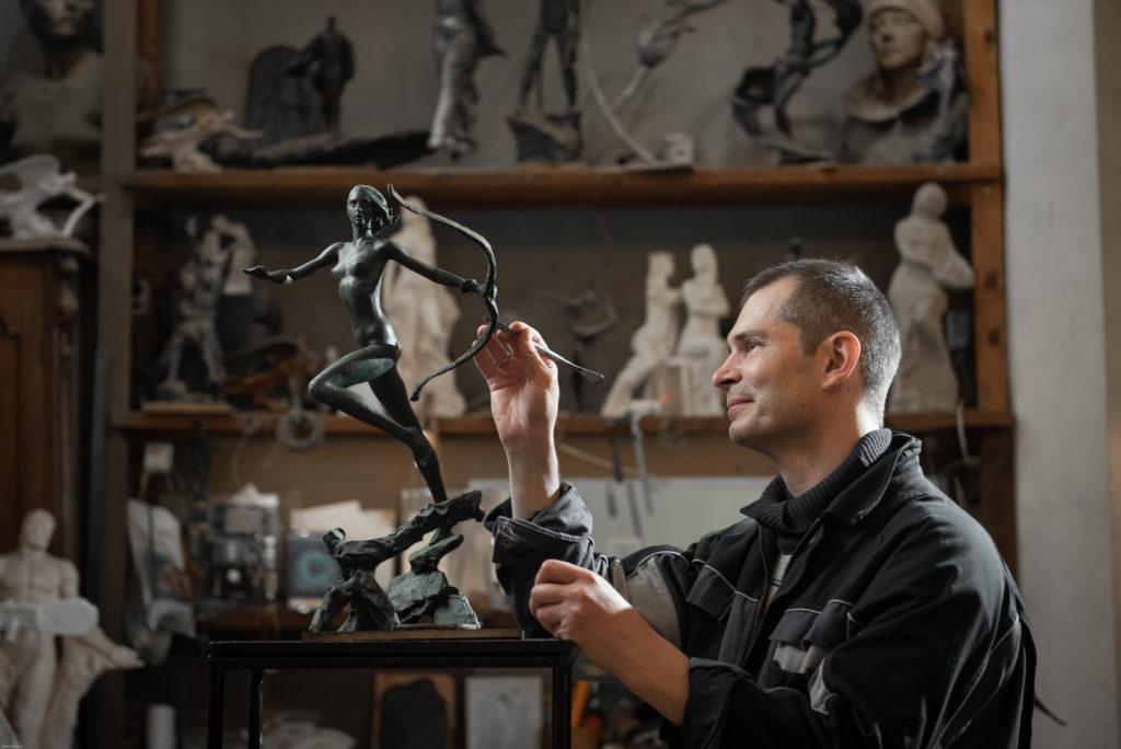 бизнес фотосессия скульптора
