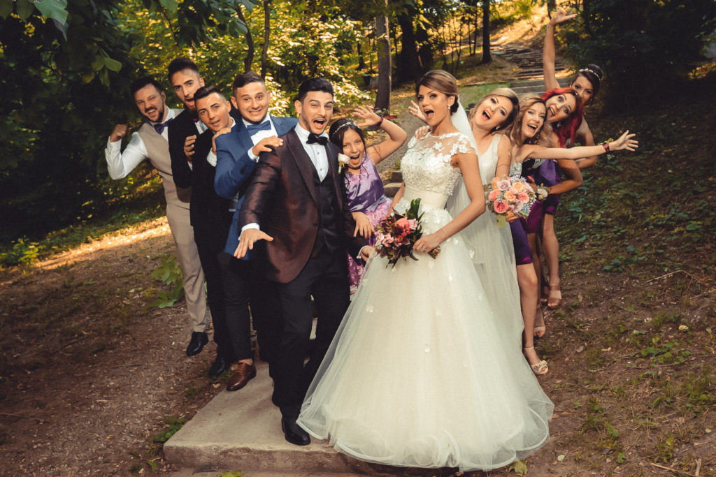 семейная фотосессия на свадьбе