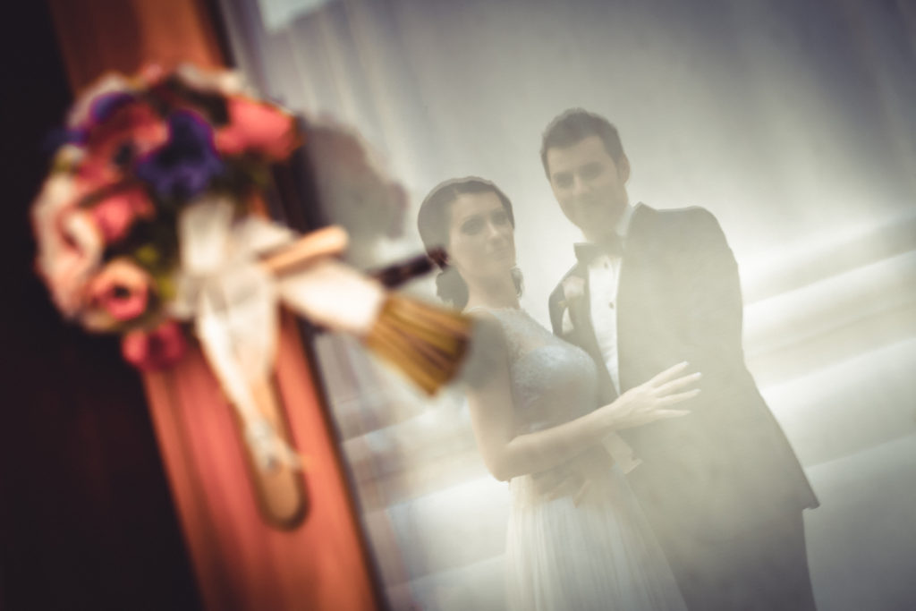 свадебная фото в отражении