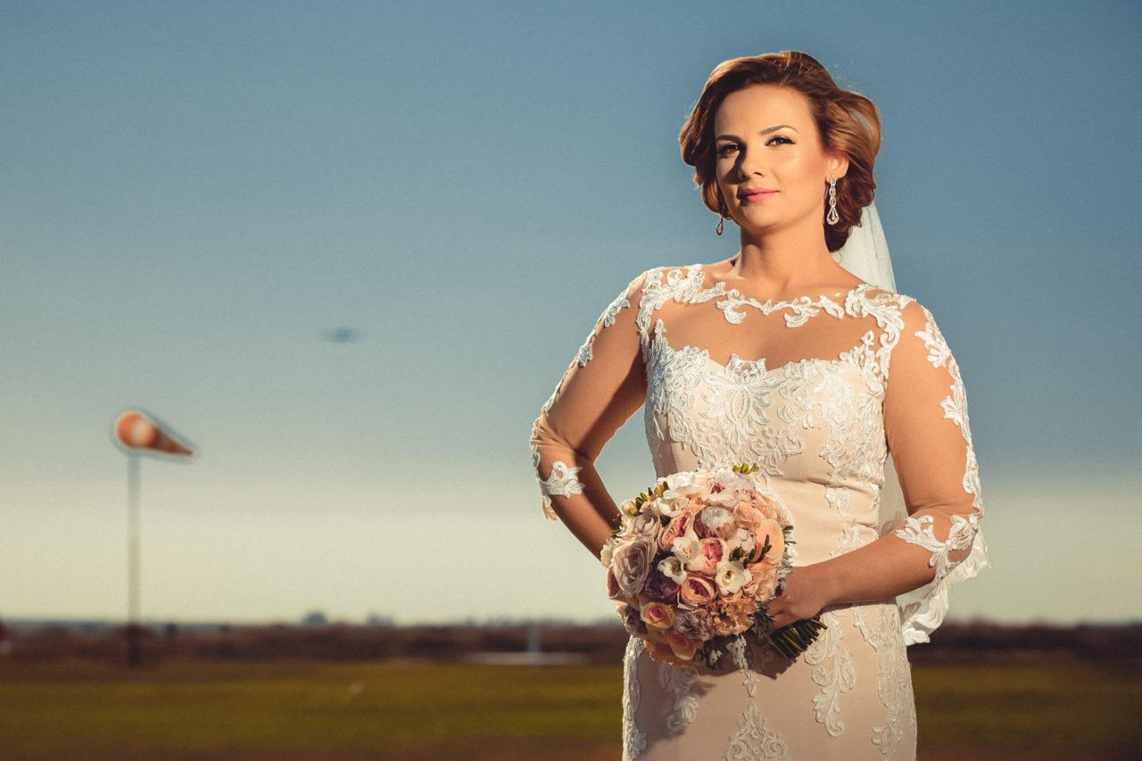 портрет невесты в день свадьбы