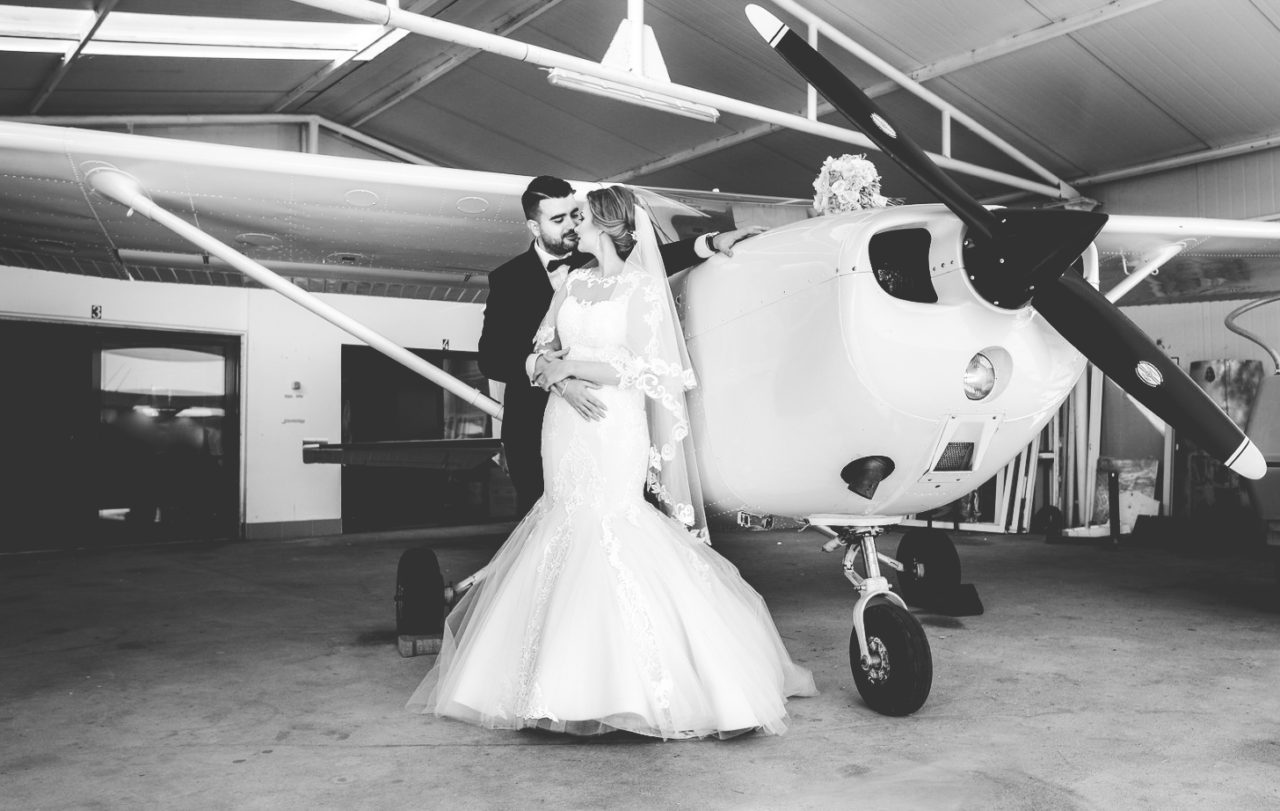 свадебный день в аэрапорту