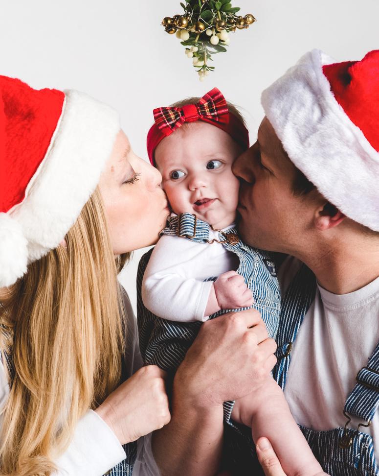новогодня семейная фотосессия